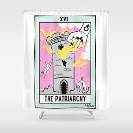 The Cards Say Smash the Patriarchy Shower Curtain