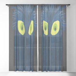 The Blue Owl Sheer Curtain