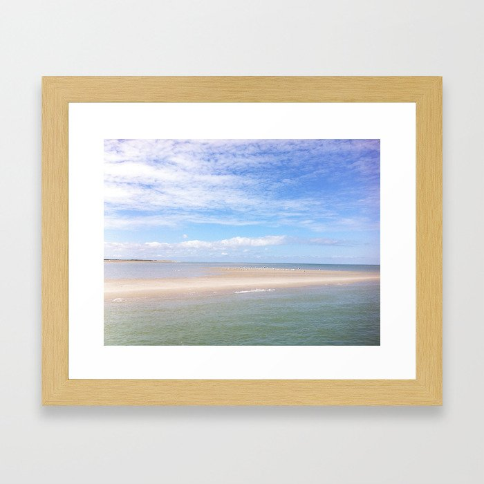 Cape Cod Sand Bar Framed Art Print