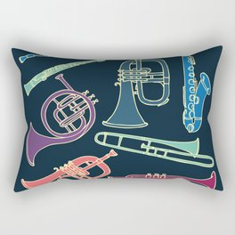 Wind instruments Rectangular Pillow