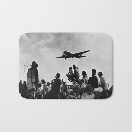 World War II Tailgate Party - Vintage Collage Bath Mat