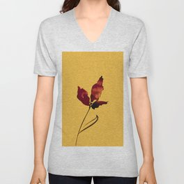 Floral Abstract No.2s by Kathy Morton Stanion Unisex V-Neck