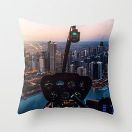 Chopping Over Chicago City Throw Pillow