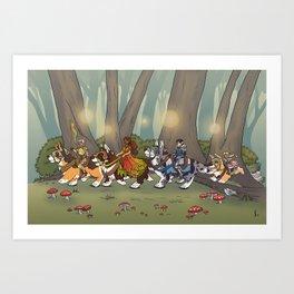 Parade of the Seasons Art Print