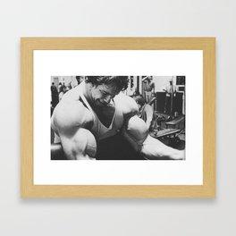 Arnold Schwarzenegger - Preacher Curls Framed Art Print