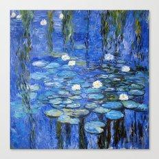 waterlilies a la Monet Canvas Print