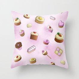 Cake pattern Throw Pillow