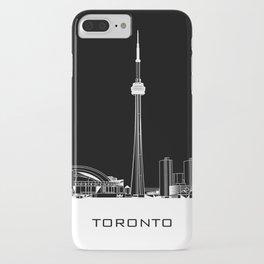 Toronto Skyline - White ground / Black Background iPhone Case