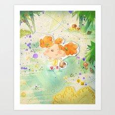 Mushroom hunt Art Print