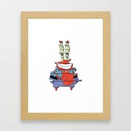 Warped Crabs Parody Framed Art Print