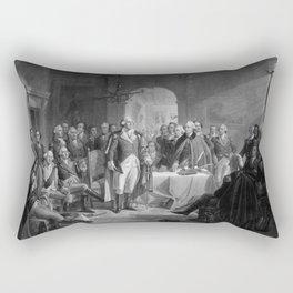 Washington Meeting His Generals Rectangular Pillow