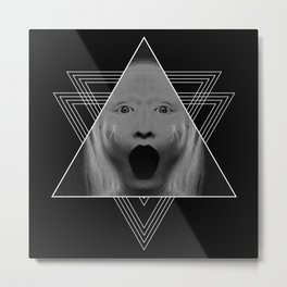 Blackhole Scream Metal Print