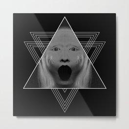 Blackhole Scream Metal Print