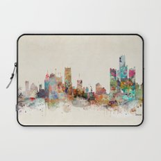 detroit michigan skyline Laptop Sleeve
