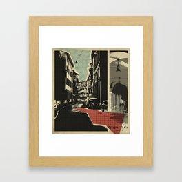 Bologna - retro card Framed Art Print