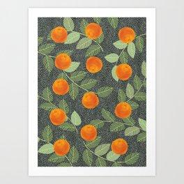 Orange Bliss #illustration#botanical Art Print