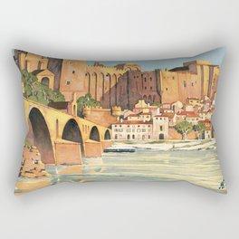 Avignon, French Travel Poster Rectangular Pillow