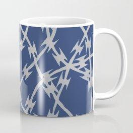 Trapped Navy Coffee Mug