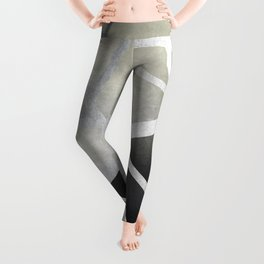 Textured Metal Geometric Gradient With Silver Leggings
