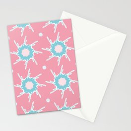 Girly Abstract Star Pattern Stationery Cards