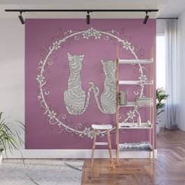 lovely cats Wall Mural