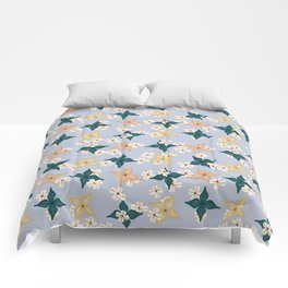 Dainty floral pattern on baby blue Comforters