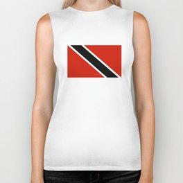 Trinidad and Tobago country flag Biker Tank