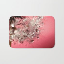 New Year's Pink Champagne Bath Mat