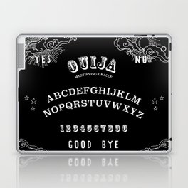 Ouija Board White on Black Laptop & iPad Skin