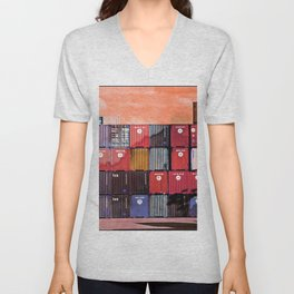 Colorful containers I Unisex V-Neck