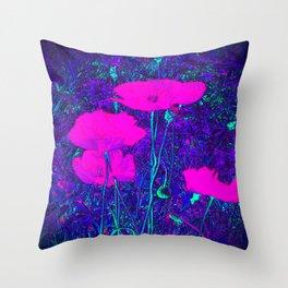 Summer Texture (Purple) Throw Pillow