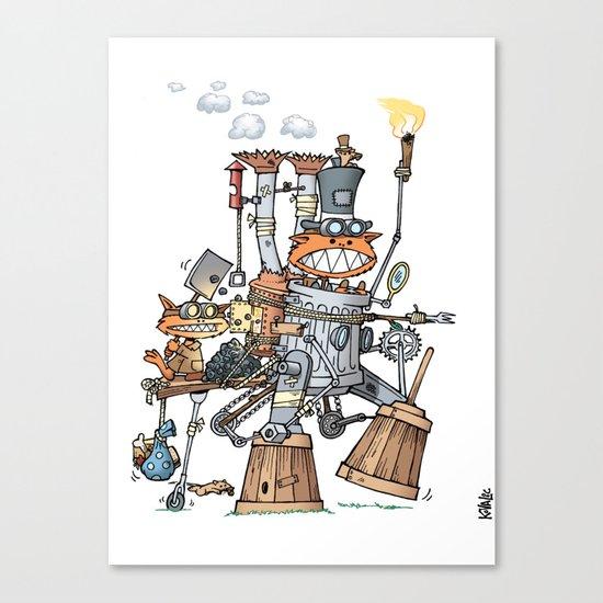 Steampunk Kobolds Canvas Print