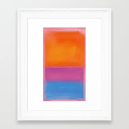 Rothko Interpretation Orange Blue Framed Art Print