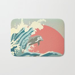 dolphin happiness Bath Mat