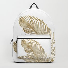 Palm Leaves Finesse Line Art with Gold Foil #2 #minimal #decor #art #society6 Backpack