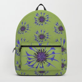 Thin blue flames in a sea of green Backpack