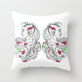 2 Dreamers Throw Pillow