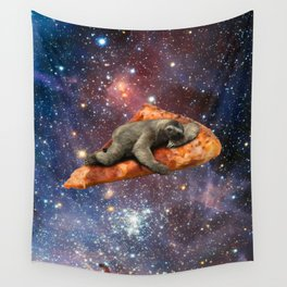 Pizza Sloth In Space Wall Tapestry