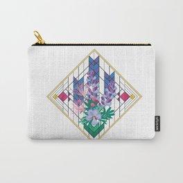 Wildflower Impressions - Wild Lupine, Prairie Smoke, Birdsfoot Violet Carry-All Pouch