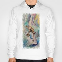 surfer Hoodies featuring Surfer by Michael Creese