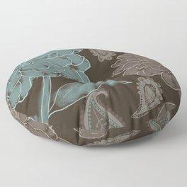 Cocoa Paisley I Floor Pillow
