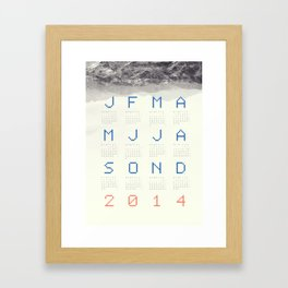 Mountain calendar 2014 Framed Art Print