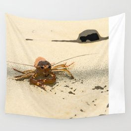 Red Crab Wall Tapestry