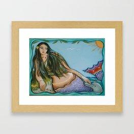 Mermaid Rest Framed Art Print