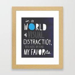 Visual Distractions Framed Art Print