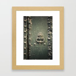 Doorknocker Framed Art Print
