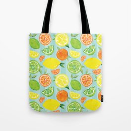 Zesty Citrus Pattern Tote Bag