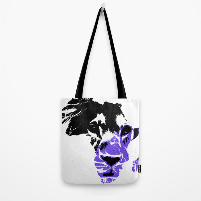 Africa Lion : Purple Tote Bag