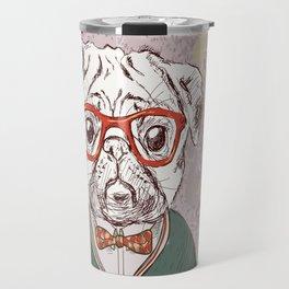 Hipster pug Travel Mug