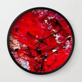Red Rocks Abstract Wall Clock